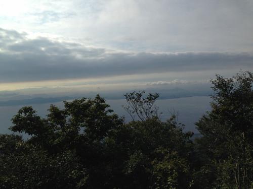 堂満岳頂上より琵琶湖を望む